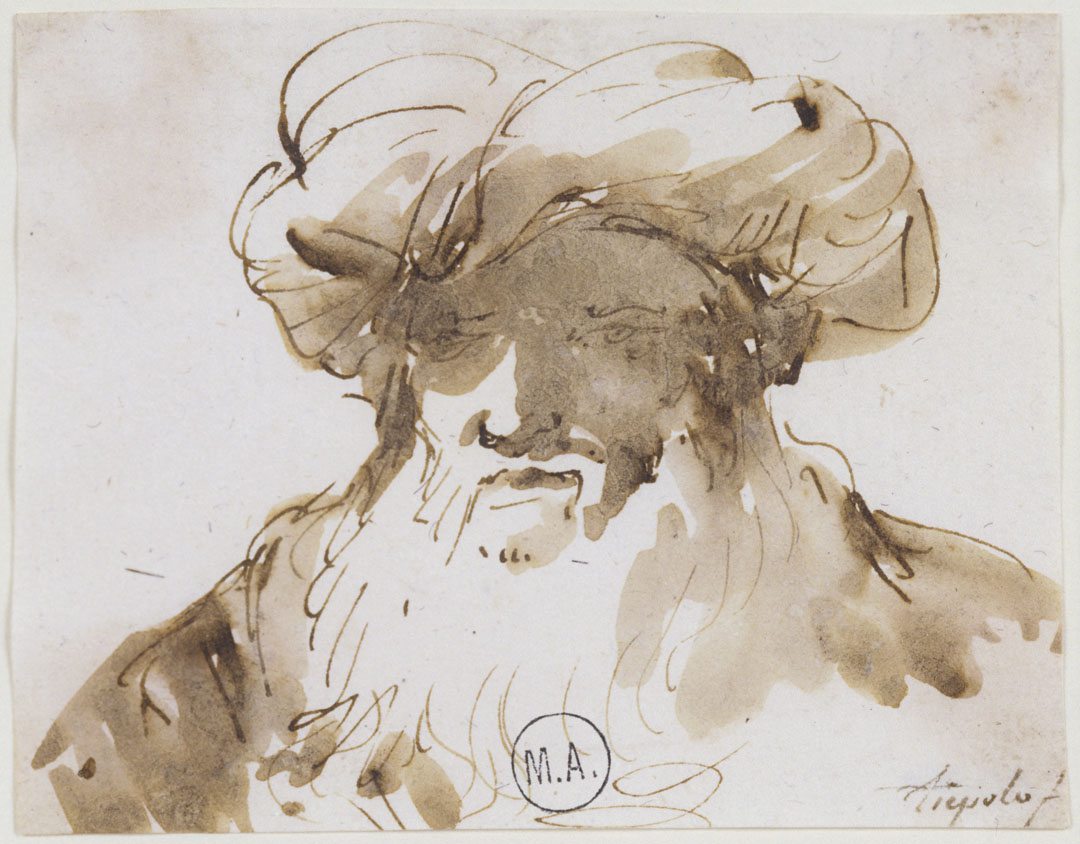 MA 160: Tête d'homme au turban. Musée Atger. BIU Montpellier,